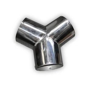 Тройник из нержавеющей стали для систем газоудаления Ø102мм FS-Tee