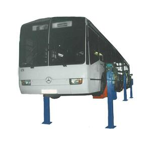 Подъемник шестистоечный электромеханический для автобусов стационарный ПС-15